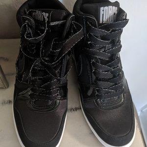 Nike Force Sky High Women's black wedge sneakers